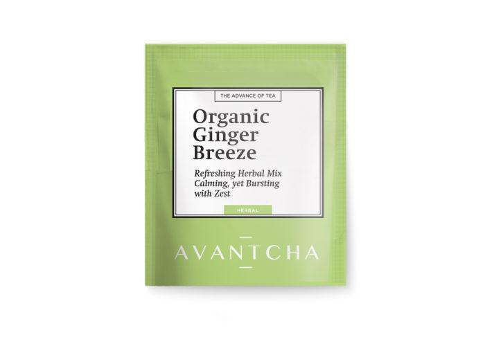 AVANTCHA | Organic Ginger Breeze Silk Teabag