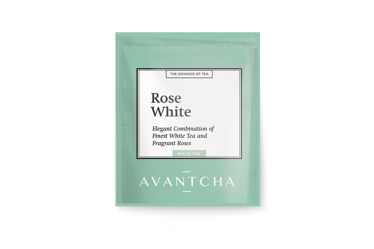 AVANTCHA | Rose White Silk Teabag