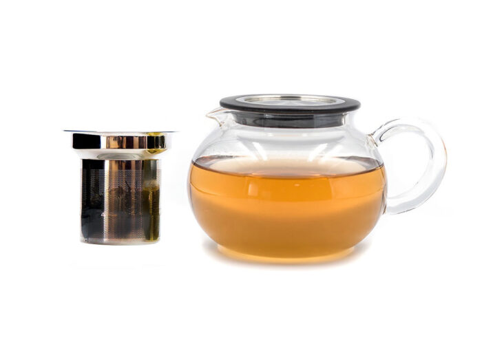 luna glass teapot